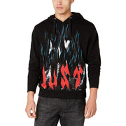 Flame Mens Graphic Drawstring Hoodie
