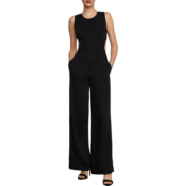 Rossana Womens Cut-Out Wide Leg Jumpsuit