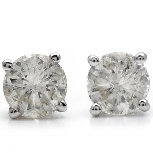 HUGE 4 7/8ct Round Brilliant Cut GIGANTIC Diamond Studs Womens White Gold Earring