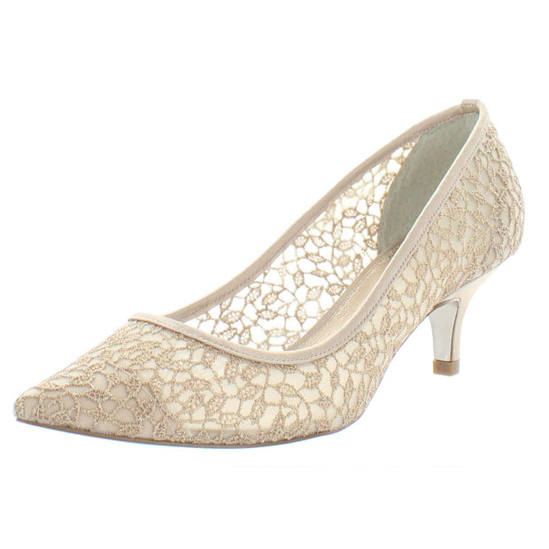 Womens Mesh Pointed Toe Pumps