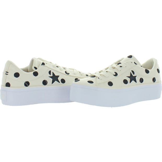 One Star Platform Ox Womens Canvas Low Top Platform Sneakers