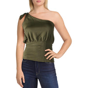 Free People Womens Shindig One-Shoulder Gathered Tank Top