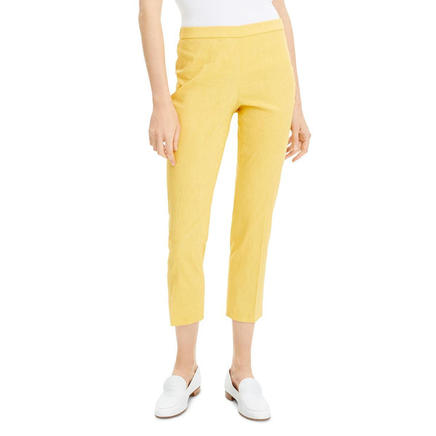 Theory Womens Straight Pull On Pants