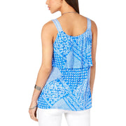 Womens Tiered Printed Tank Top