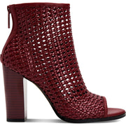 Celise Womens Woven Open Toe Ankle Boots