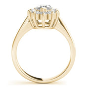 1 1/2 Ct Marquise Diamond Halo Engagement Ring 14k Yellow Gold Enhanced
