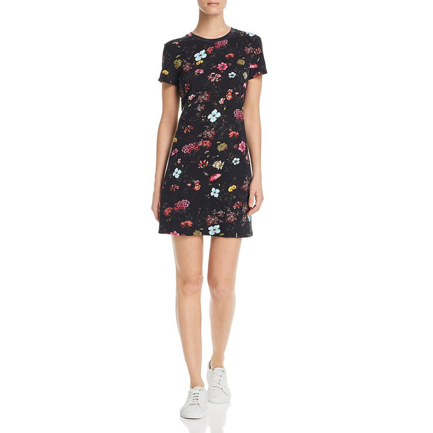 Womens Floral Print Cotton Shirtdress