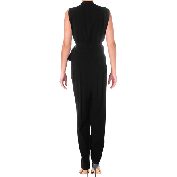 Kobi Halperin Womens Erica Sleeveless Notch Lapel Jumpsuit