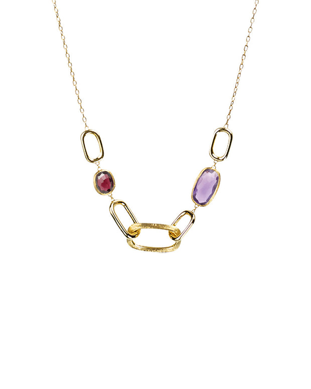 Marco Bicego Murano Link 18K Gemstone Link Necklace