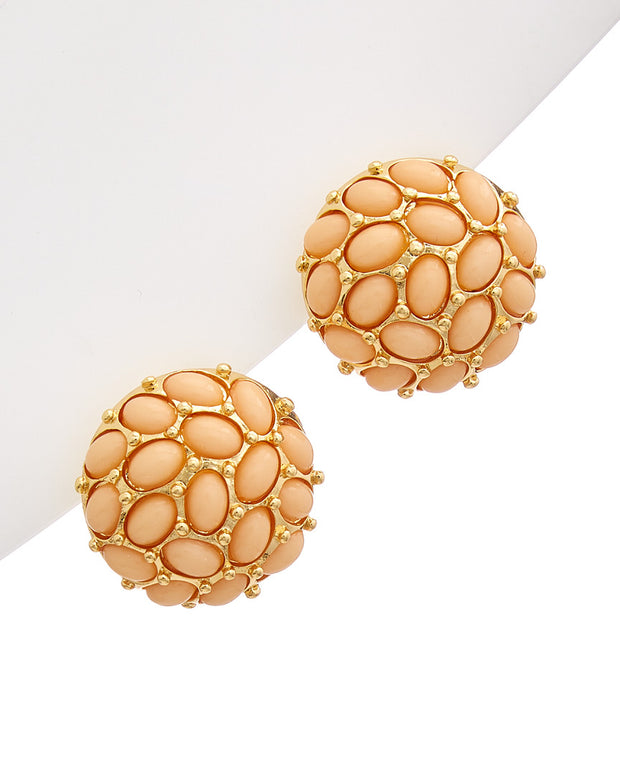 Kenneth Jay Lane 22K Gold Electroplated Earrings