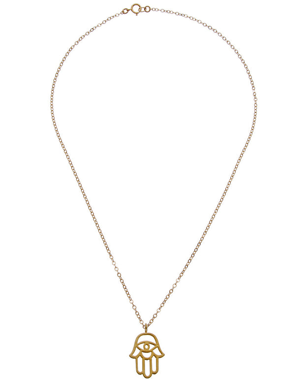 Dogeared Protection Collection 14K Over Silver Necklace
