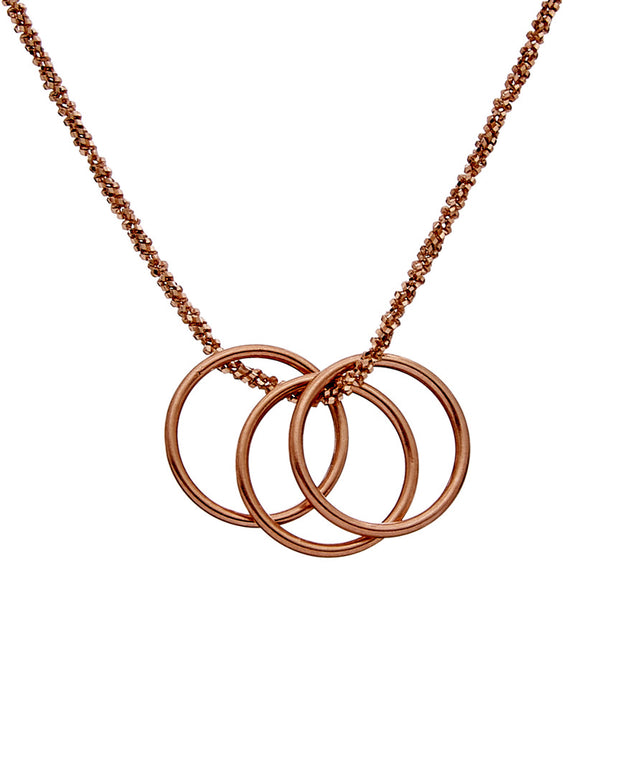 Dogeared Wish Collection 14K Rose Gold Over Silver Necklace