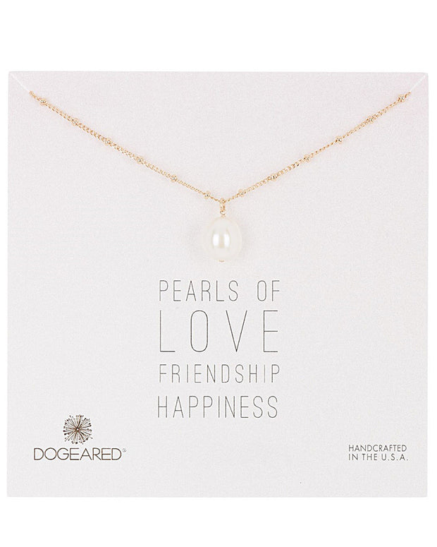 Dogeared Pearl Collection 14K Over Silver 6-8Mm Pearl Necklace