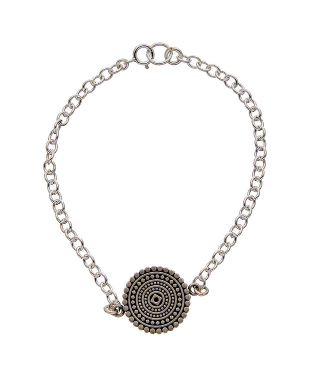 Dogeared Mandala Collection Silver Bracelet