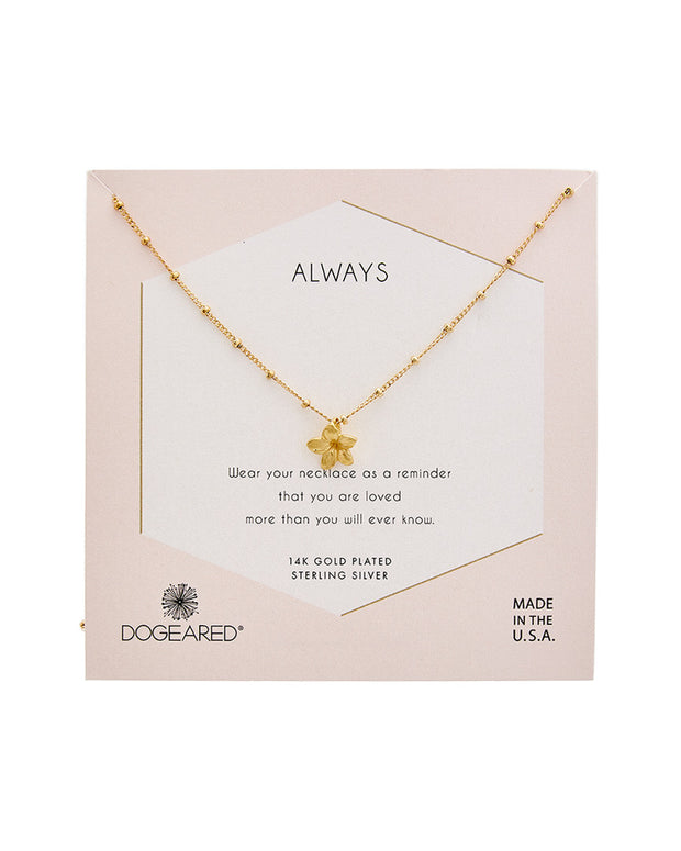 Dogeared Reminder Collection 14K Over Silver Necklace