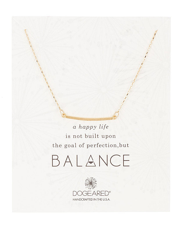 Dogeared Balance Collection 14K Over Silver Necklace