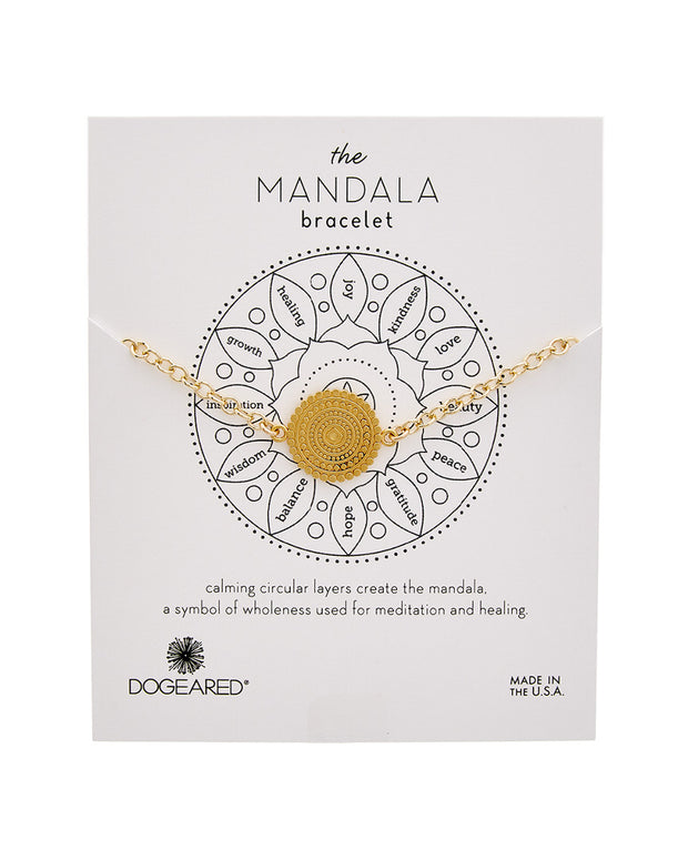 Dogeared Mandala Collection 14K Over Silver Bracelet