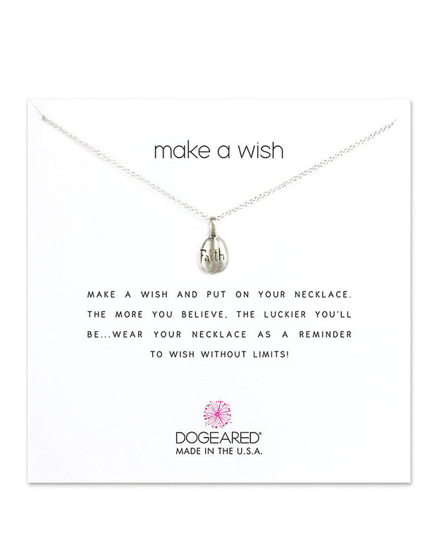 Dogeared Faith Collection Silver Necklace