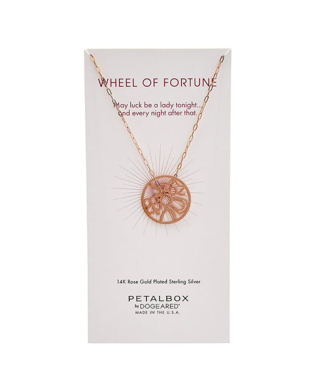 Dogeared Petal Box Collection 14K Rose Gold Plated Necklace