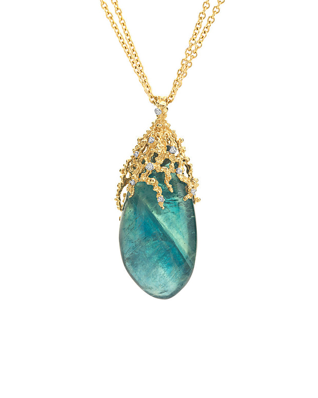 Michael Aram Ocean 18K Diamond & Blue Florite 30In Necklace