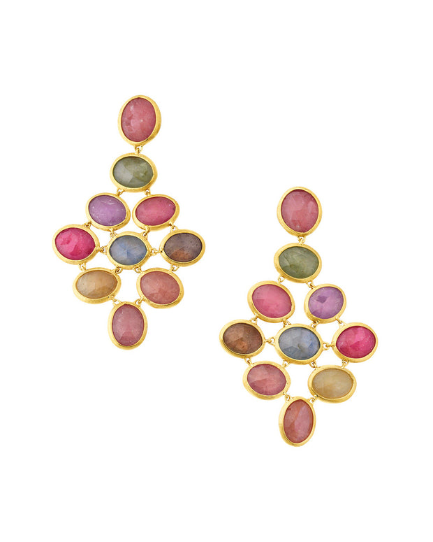 Marco Bicego Siviglia 18K Gemstone Sapphire Drop Earrings