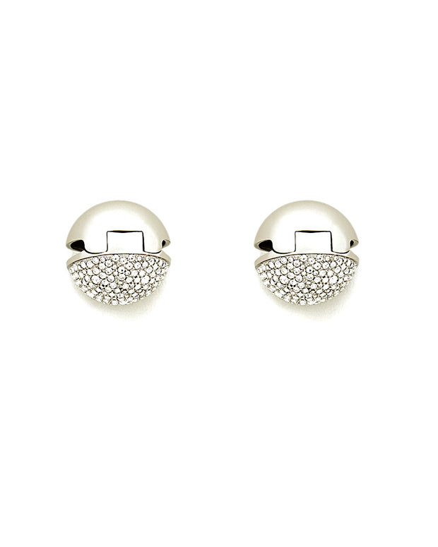 Lafayette 148 New York Pave Sphere Clip Earrings