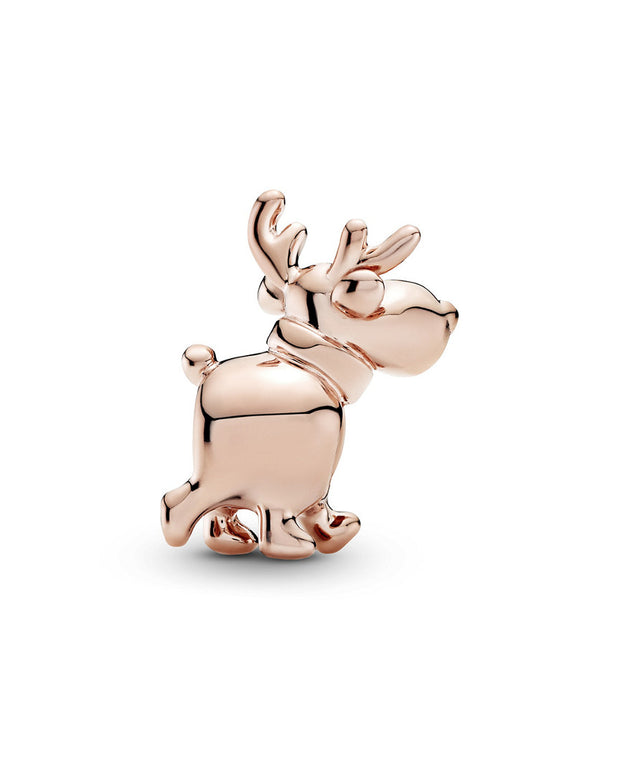 Pandora Rose 14K Rose Gold Plated Cz Reindeer Holiday Charm