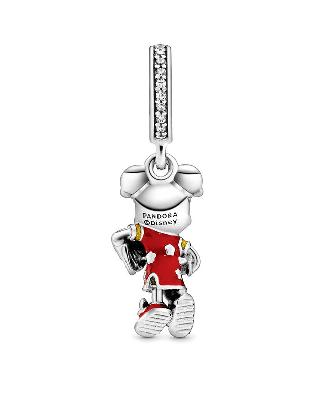 Pandora Silver Cz Disney Mickey Mouse Chinese New Year Dangle Charm