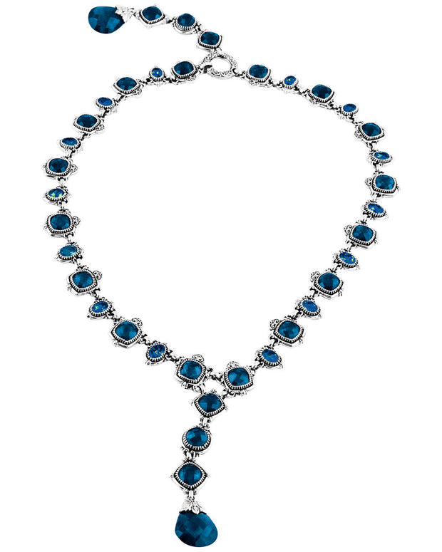 Konstantino Silver 56.40 Ct. Tw. London Blue Topaz Necklace