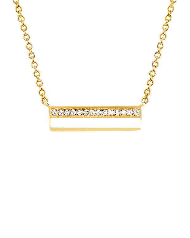 Ef Collection 14K 2.04 Ct. Tw. Diamond White Enamel Bar Necklace