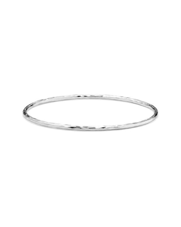 Ippolita Silver Skinny Hammered Bangle Bracelet