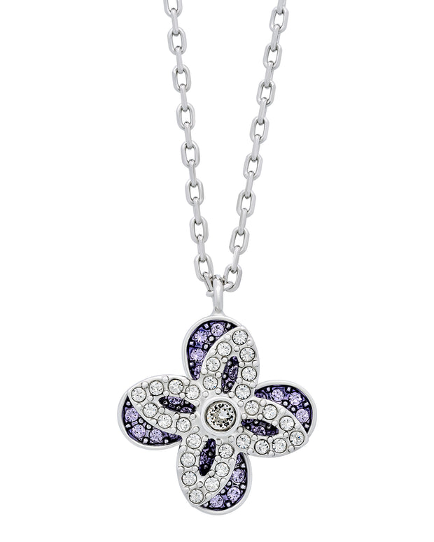 Swarovski Gourmet Rhodium-Plated Violet Clear Crystal Jewelry Set 5258907