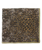 Ungaro UN7018 S7802 Animal Print Brown Silk Scarf