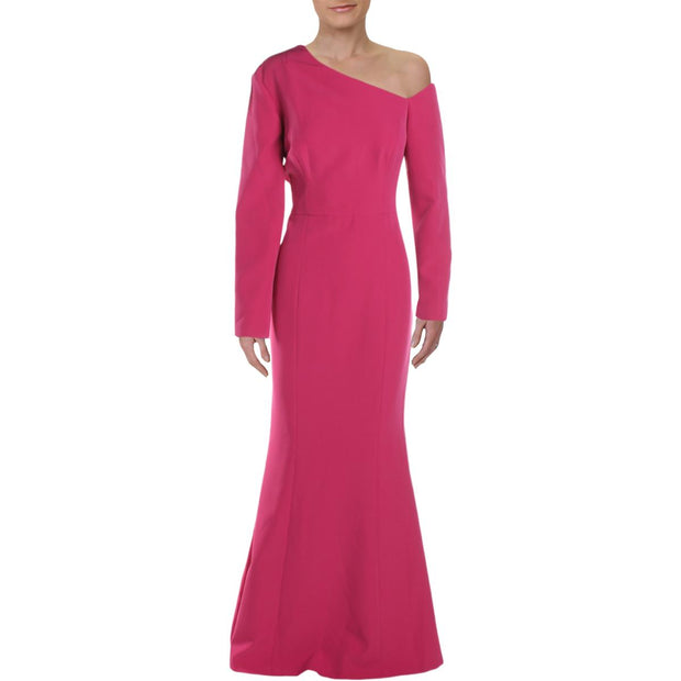 Kay Unger New York Womens Asymmetric Special Occasion Evening Dress