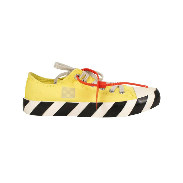 OFF WHITE c/o VIRGIL ABLOH Yellow 'Arrows' Logo Low-Top Sneakers 6.5/40