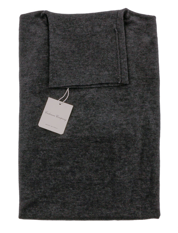 Cashmere Blend Grey Roll Neck Sweater