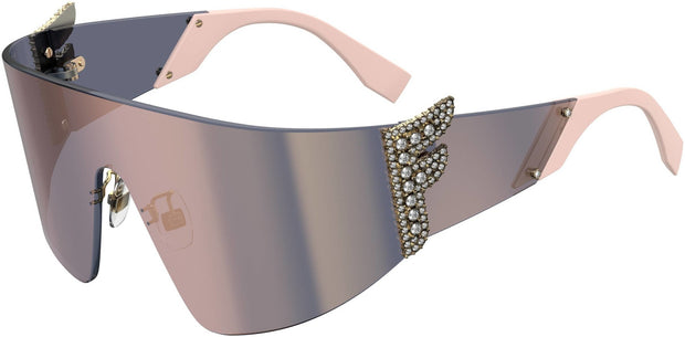 Fendi Women's FF-0382-S-035J-0J Fashion 99mm Pink Sunglasses