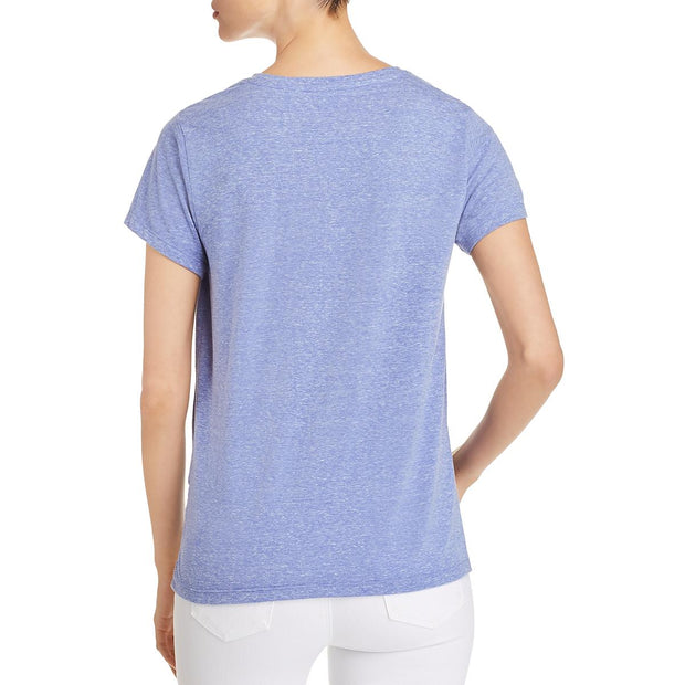 Womens Heathered Twist Front T-Shirt
