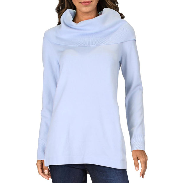 French Connection Womens Cowl Neck Ribbed Trim Turtleneck Sweater