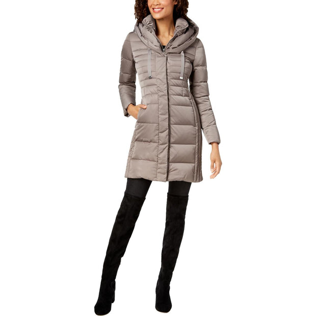 Mia Womens 2-in-1 Fitted Down Coat