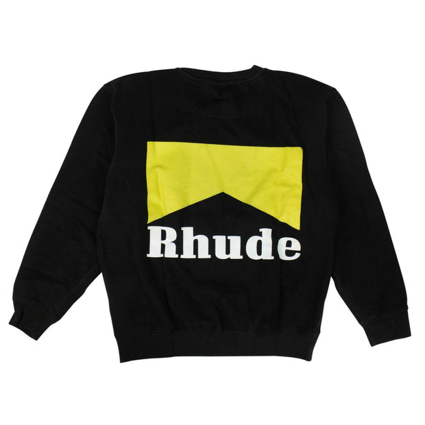 RHUDE Black Cotton Cigarette Crew Neck Sweatshirt