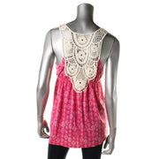 Pink Rose Womens Juniors Padded Bust Babydoll Tank Top