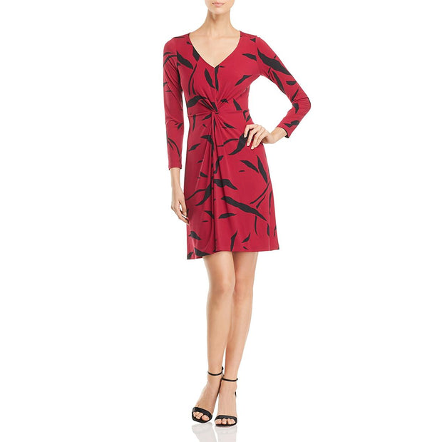 Womens Printed V-Neck Casual Dress