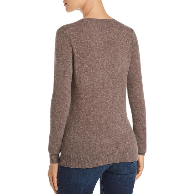 Private Label Womens Ribbed Trim V Neck Sweater