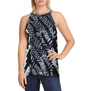 Womens Printed Sleeveless Halter Top