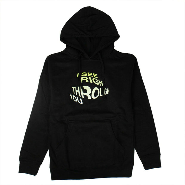 ANTI SOCIAL SOCIAL CLUB Black 'Crystal Clear' Hoodie Sweatshirt
