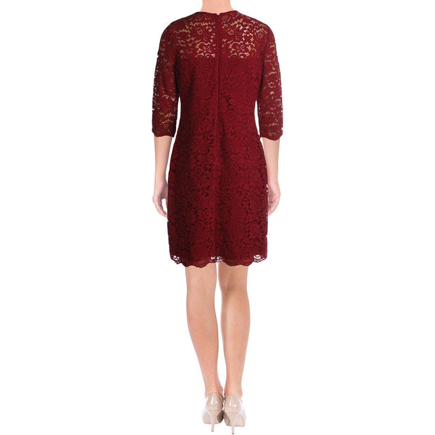 Womens Lace Knee-Length Cocktail Dress
