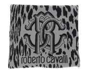 Roberto Cavalli  Crest Logo Signature Woold Blend Hat and Scarf Set-One Size