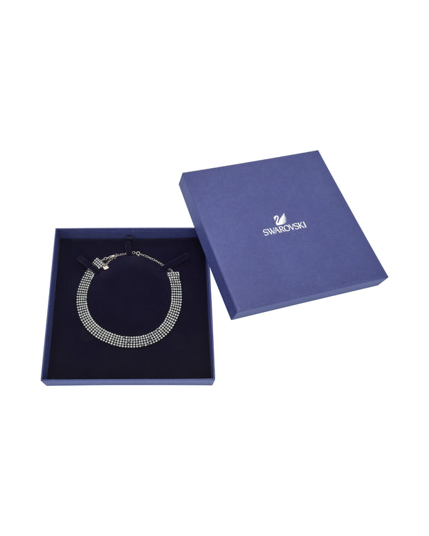 Swarovski Fit Ruthenium-Plated Black Crystal Choker Necklace 5355185