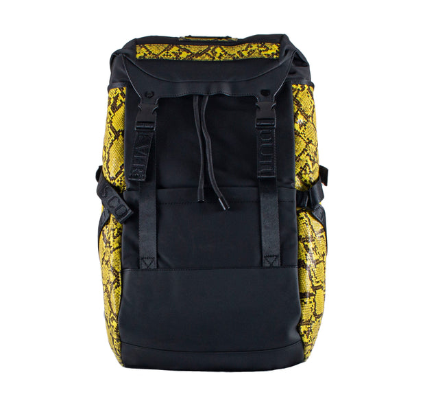 Versace Jeans Couture Python Print Black/Lime Medium Backpack